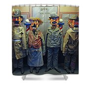 Victorian Musee Mecanique Automated Puppets - San Francisco Shower Curtain by Daniel Hagerman