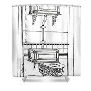 Victorian Potty Shower Curtain
