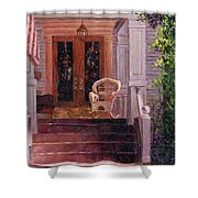 Victorian Rocking Chair Shower Curtain