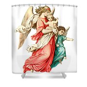 Victorian Scrap Relief Of The Christ Child Shower Curtain