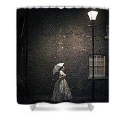 Victorian Woman Beneath A Street Lamp Shower Curtain