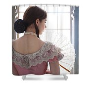 Victorian Woman By A Window Shower Curtain