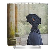 Victorian Woman On Stone Steps Shower Curtain