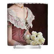 Victorian Woman With Roses Shower Curtain