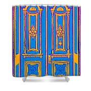 Victoriandoorpopart Shower Curtain
