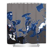 Victoriano Huerta Emilio Madero And Pancho Villa On The Right Ciudad Chihuahua May 1912-2014 Shower Curtain