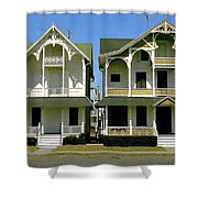 Victorians At Ocean Grove New Jersey Shower Curtain