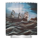 Victory At Gibraltar Shower Curtain