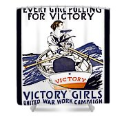 Victory Girls Of W W 1     1918 Shower Curtain by Daniel Hagerman