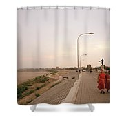 Vientiane Laos Shower Curtain