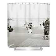 Vientiane Monk Shower Curtain