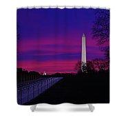 Vietnam Memorial Sunrise Shower Curtain