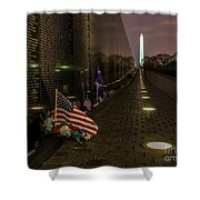Vietnam Veterans Memorial At Night Shower Curtain