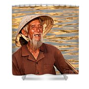 Vietnamese Boatman 02 Shower Curtain