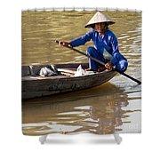 Vietnamese Boatwoman 01 Shower Curtain