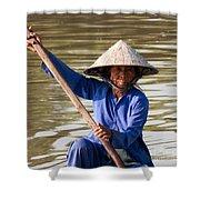 Vietnamese Boatwoman 02 Shower Curtain