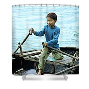 Vietnamese Boy Shower Curtain