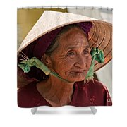 Vietnamese Lady Shower Curtain