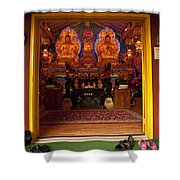 Vietnamese Temple Shrine Shower Curtain
