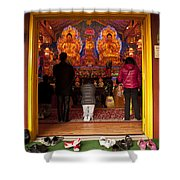 Vietnamese Temple Shrine Prayer Shower Curtain