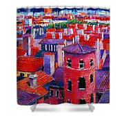 Vieux Lyon Rooftops  Shower Curtain