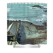 View Across Polpeor Cove Shower Curtain