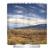 View Across The Rio Grande River Huge Panorama Shower Curtain