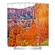 View At Beginning Of Navajo Trail In Bryce Canyon National Park-utah Shower Curtain