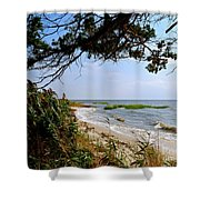 View At East Point  Shower Curtain