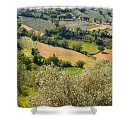 View At Montefalco Shower Curtain