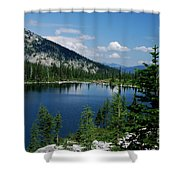 View At Roman Nose Peak Shower Curtain
