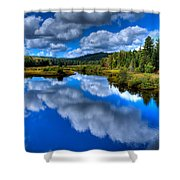 View At The Green Bridge - Old Forge New York Shower Curtain