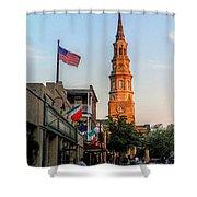 View Down Church Street Shower Curtain