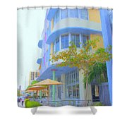 View Down Collins Ave Shower Curtain