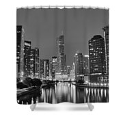 View Down The Chicago River Shower Curtain