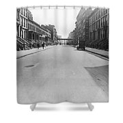 View East On 78th Street Shower Curtain