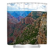 View Five From Walhalla Overlook On North Rim Of Grand Canyon-arizona Shower Curtain