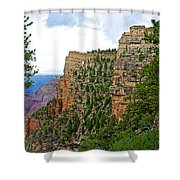 View Four From Walhalla Overlook On North Rim Of Grand Canyon-arizona Shower Curtain