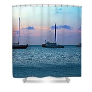 View From A Catamaran3 - Aruba Shower Curtain
