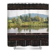 View From A Hide Impressions Shower Curtain