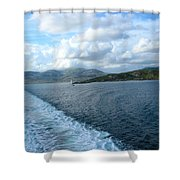 View From A Scottish Ferry Shower Curtain