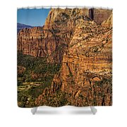 View From Angel's Landing 2 Shower Curtain