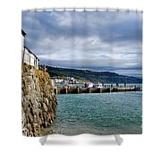 View From Back Beach - Lyme Regis Shower Curtain