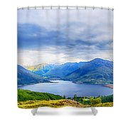 View From Bealach Ratagan To The Five Sisters Of Kintail Shower Curtain