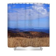 View From Black Balsam Knob Shower Curtain