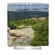 View From Cadillac Mountain - Acadia Park Shower Curtain