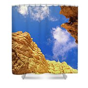 View From Of Bryce Canyon Shower Curtain by Yva Momatiuk John Eastcott