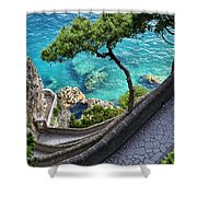 View From Capri.italy Shower Curtain
