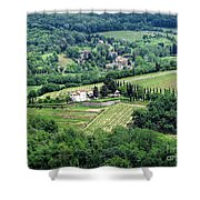 View From Castello Vicchiomaggio Shower Curtain