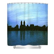 View From Central Park Shower Curtain